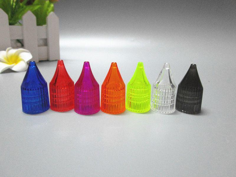 1500 stücke 30 ml flaschen mit Kristall Bunte Kappe E Flüssige Kunststoff Tropfflasche Vape Dampf E Cig Sucker Flasche
