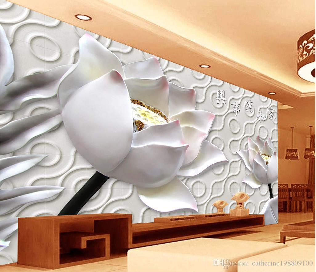 chinese wind flower engraving tv wall mural 3d wallpaper 3d wall see larger image