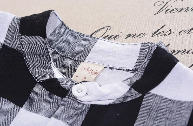 Camicia a quadri bambini in estate Camicia a quadri bambini in estate + Pantaloni Harem medi 2 pezzi Completi bambini Set di abiti ragazzo 13166