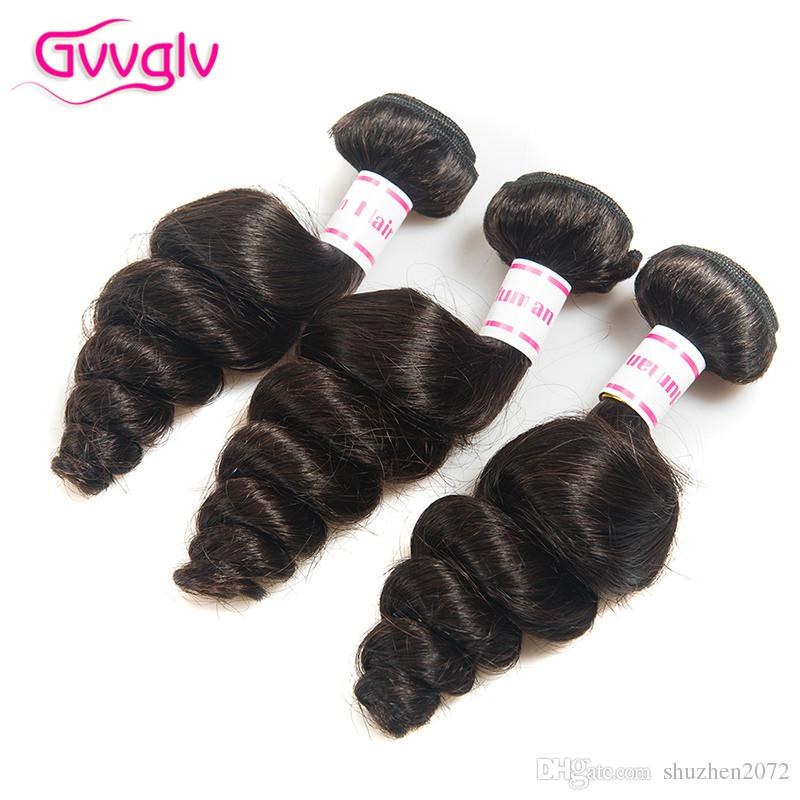 Brazilian Loose Wave With Closure Human Hair Weave 3 Hair Bundles With Lace Closures Wet And Wavy Virgin Brazilian Hair With Closure