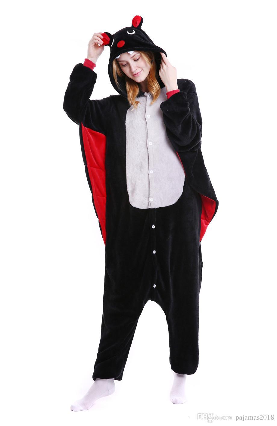 Animal Batman Pajamas Black For Men Pink Dot Cat Onesie Adult For ...