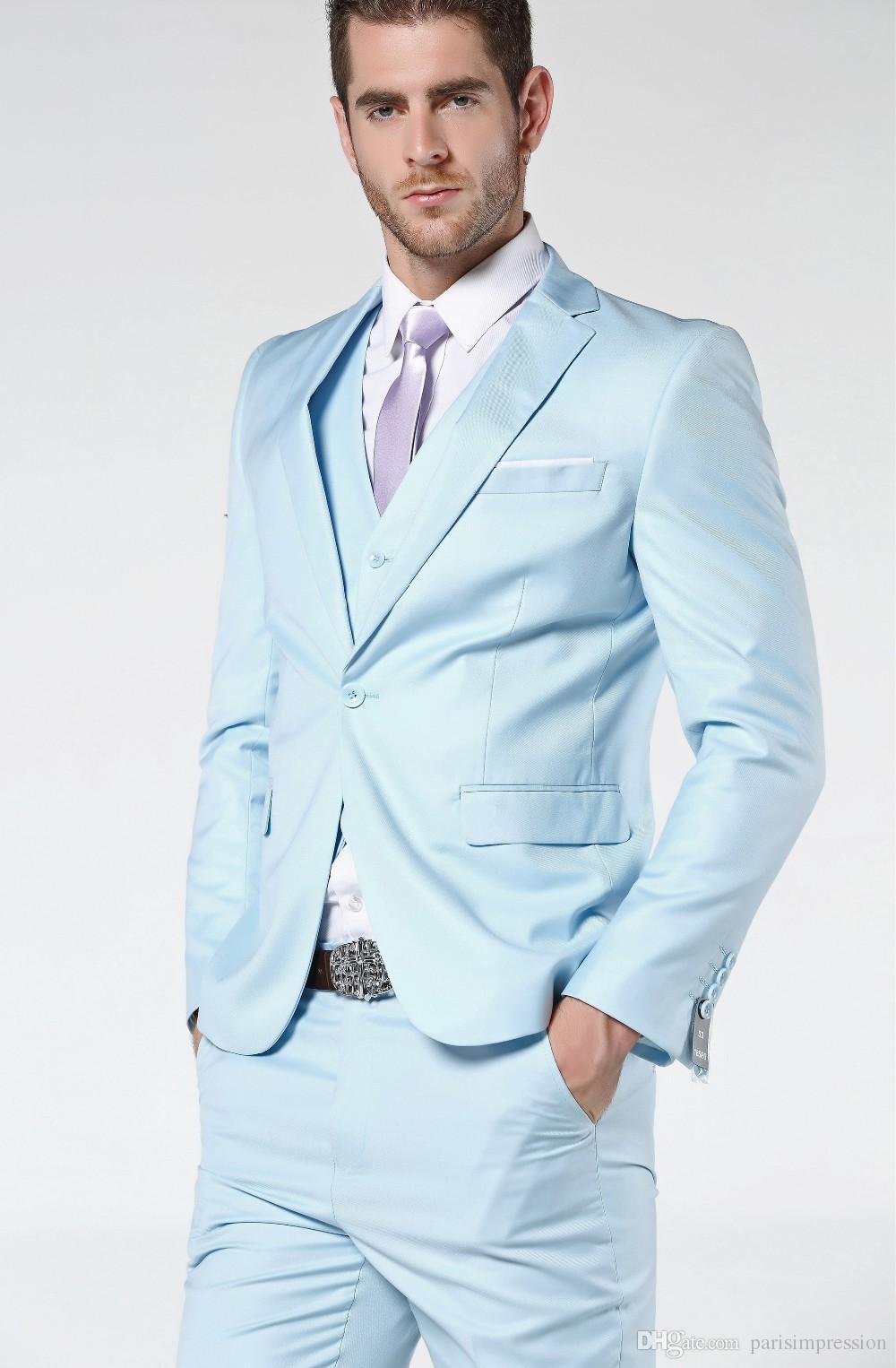 Mens Suits Light Blue Go Suits