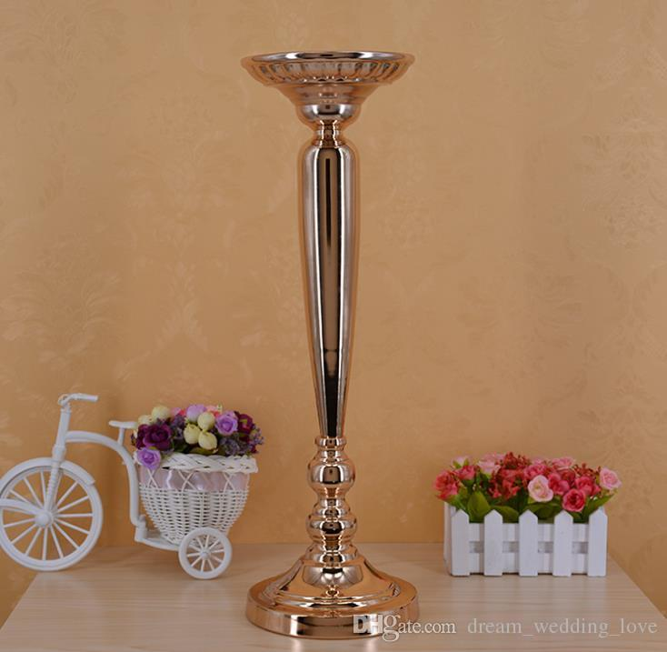 The wedding prop path gold plating column florero de mesa de estilo europeo florero de mesa de estilo europeo WQ15
