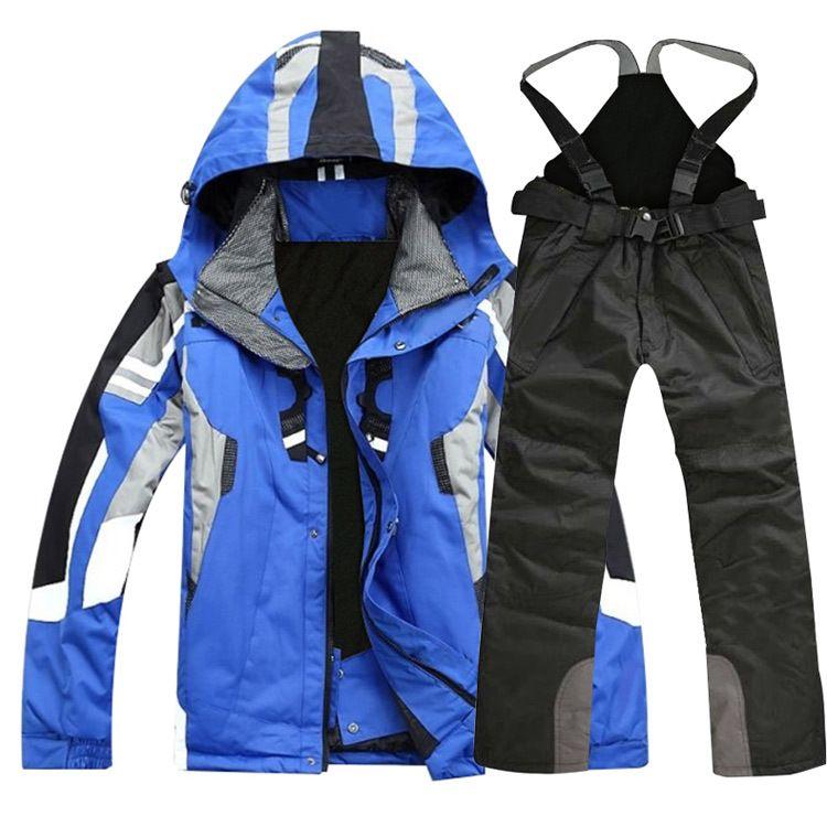 High quality outdoor sportswear Men ski jacket Ski pants ski suit windproof waterproof skiing clothing