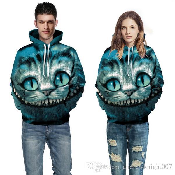 Winter Hoodies Punk Casual Sweatshirt Tiere 3D Print Löwenkopf Tiger Leopard Hip Hop Pullover Männer Frauen Mantel Street Wear Sweatshirt