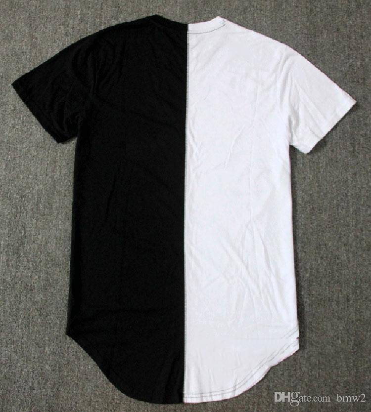 4a6a7054302 Man Si Tun Half Black White New Designer 2017 Men Summer Dress Tee Tshirt  Hip Hop Street Fashion T Shirt Casual Short T Shirt Humorous Tee Shirts  Design And ...