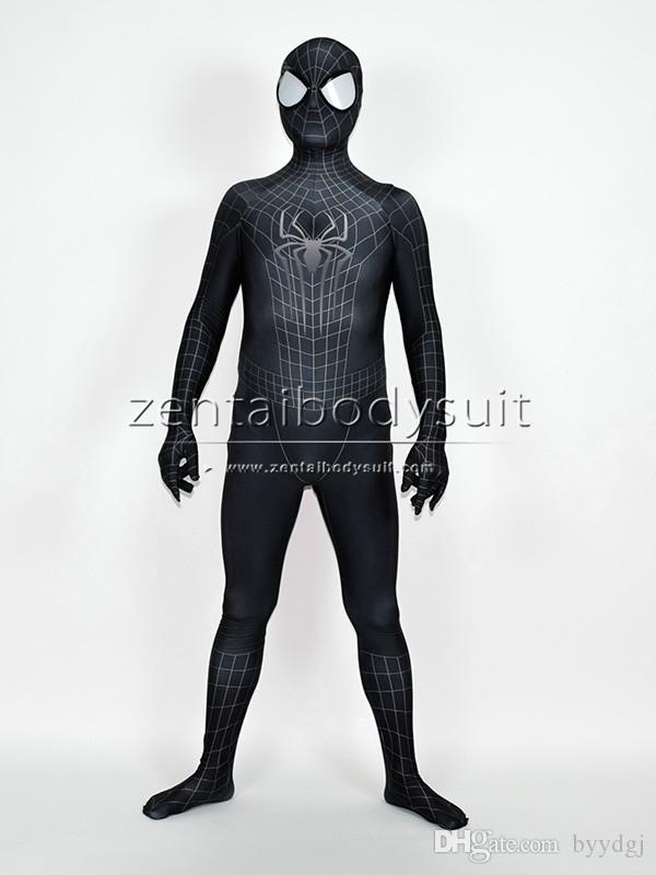 The Amazing Spiderman 2 Black Costume Black Spider Man Halloween Fullbody Cosplay Suit 6 People Halloween Costumes Halloween Themes For The Office From ... & The Amazing Spiderman 2 Black Costume Black Spider Man Halloween ...