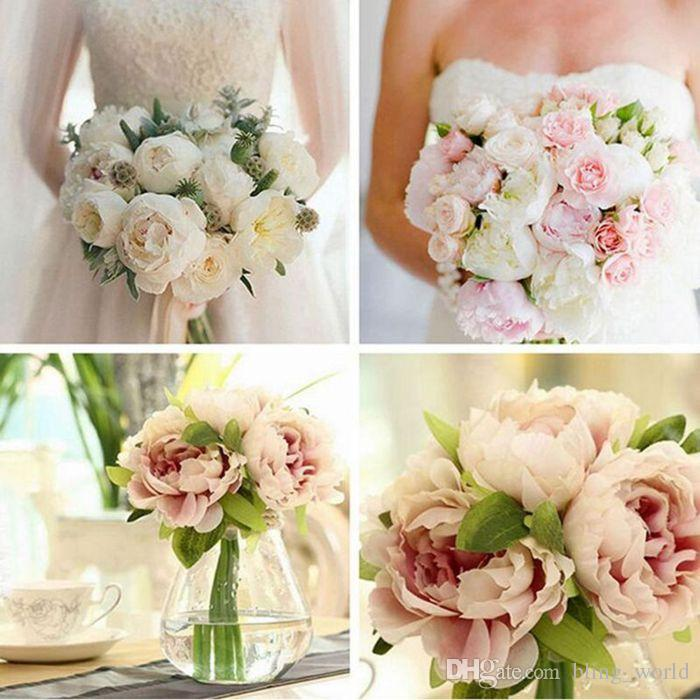 Artificial peonies silk flowers simulation peony flower bride artificial peonies silk flowers simulation peony flower bride holding flowers 5 peony heads home and wedding party decoration yw44 artificial peonies silk mightylinksfo Image collections