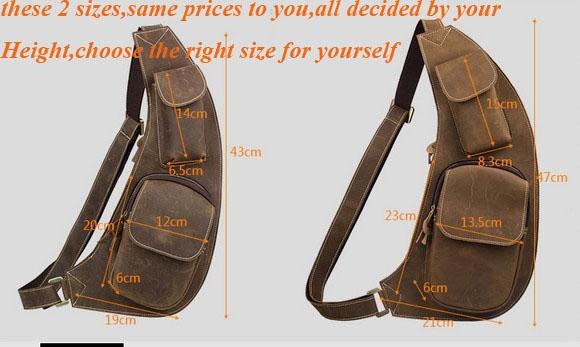 Vintage Men Leather Crossbody first layer crazy horse leather Multi-functional casual Travelling Crossbody cost price sale Top end quality