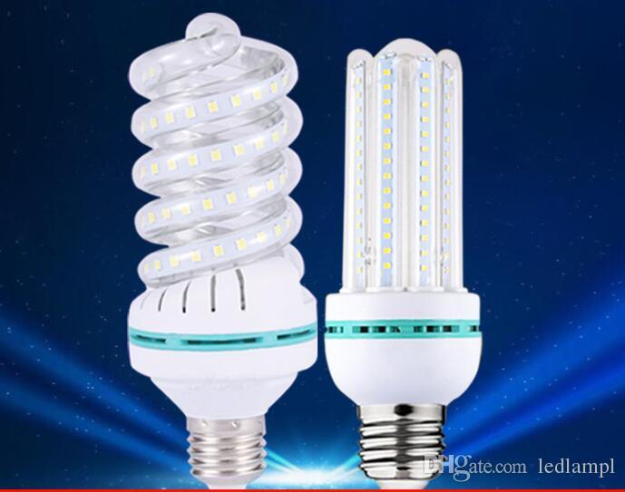 High Quality 24w 32w Spiral Led Corn Bulb E27 Smd2835 Home Lighting Lampada Lamp Energy Saving 110v 220v Automotive Bulbs