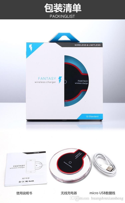 2016 neue Luxury Qi Wireless-Ladegerät Lade für Samsung S6 Edge s7 Rand Fantasie High Efficiency Pad für Samsung Mobile mit Retail-Paket