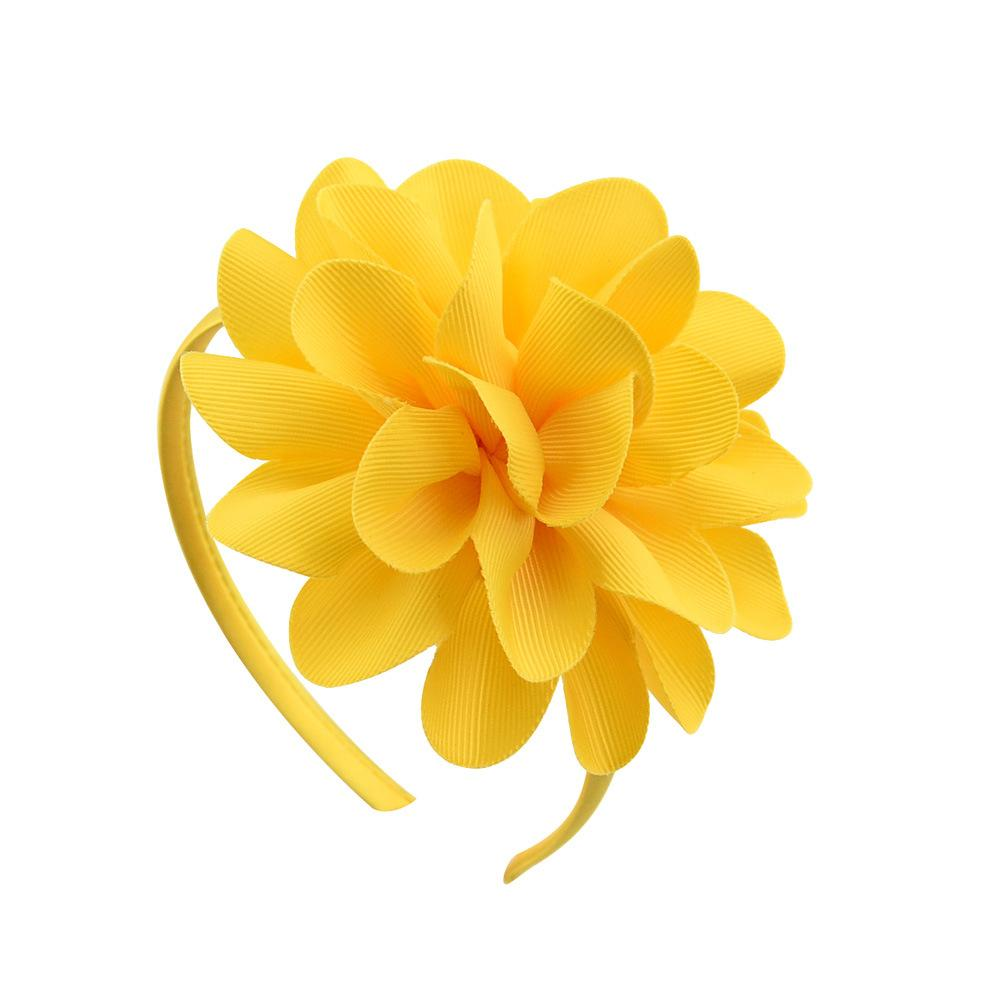 Kids Sticks 4.5 inch Flowers Hair Hoop for Girls Baby Ribbon Hairbands Children Boutique Hair Accessories Hot Sale