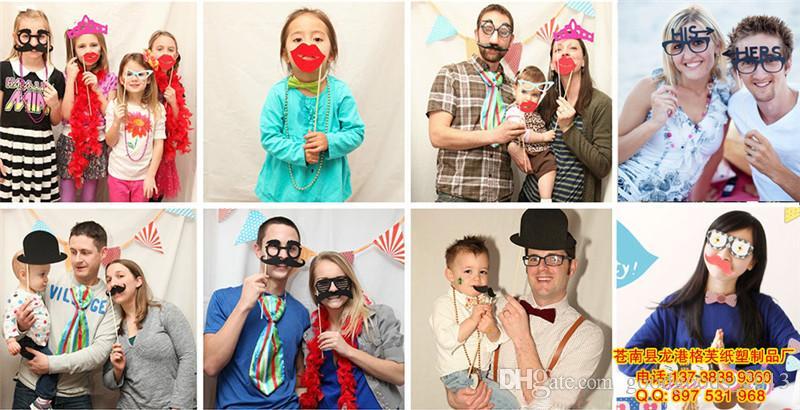26 stücke 2017 Lustige DIY Maske Photo Booth Props Schnurrbart Ein Stock Hochzeit Spaß Gefälligkeiten Geburtstag Party Dekorationen b1126-1