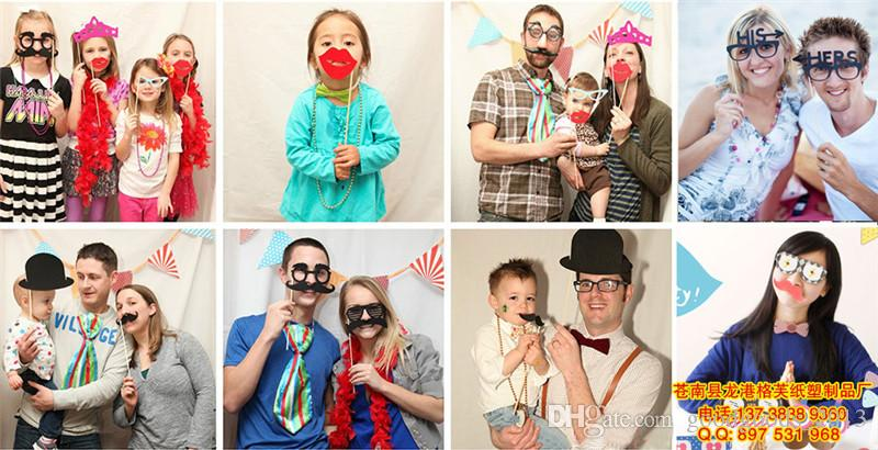 2017 Funny DIY Mask Photo Booth Props Mustache A Stick Wedding Fun Favors Birthday Party Decorations b1126-1