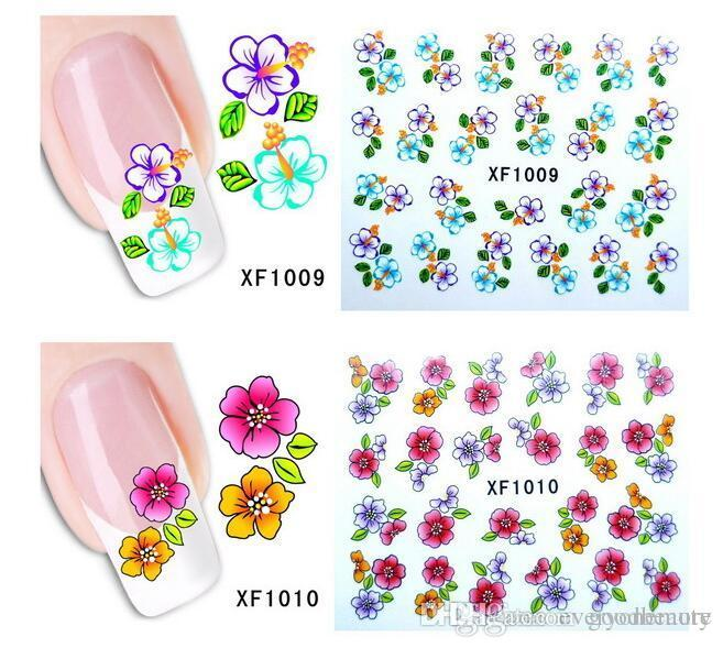 Water Transfer Sticker Nail Art Decals Nails Wraps Temporary Tattoos ...