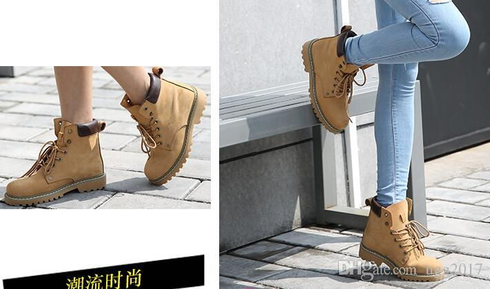 2017 new rhubarb boots tooling Martin boots leather short boots children shoes students retro summer lovers fashion fashion women