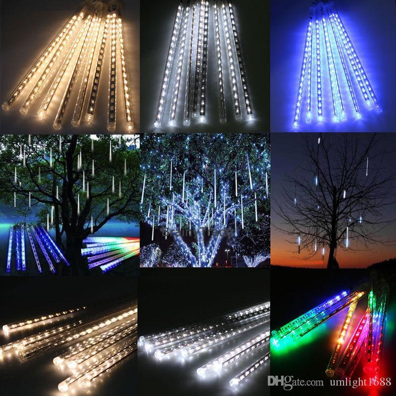 Umlight1688 Рождественский свет снегопада светодиодные полосы Рождество дождь трубки 20 30 50 см метеоритный дождь свет трубы ЕС США Plug