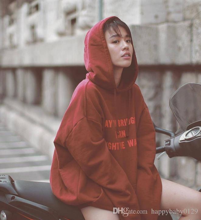 Мужчины с капюшоном Могут листы, которые я горит свет, как буквы Печать SVEARESHIRT Новая мода Hip Hop Streetwear Tscsuit