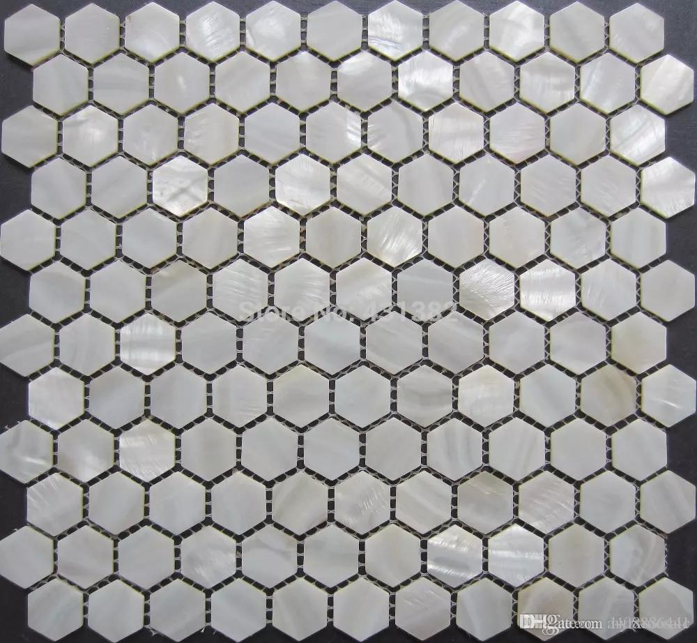 2019 Pure White Hexagon Mosaic Tile Mother Of Pearl Tiles Hexagon