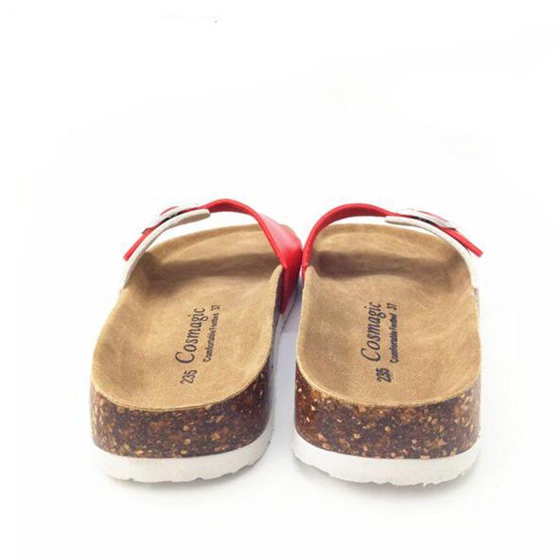 Arbeiten Sie Sommer-Korken-Pantoffel-Sandelholz-Frauen-beiläufige Strand-Mischfarbe-Flipflop-Dia-Schuh-flaches freies Verschiffen um