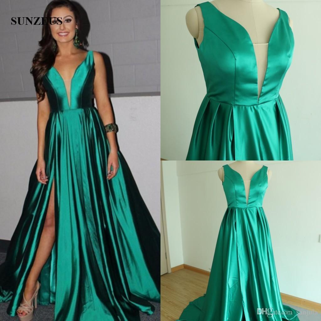 Großhandel Abendkleider Kleider Smaragdgrün Formale Kleider Sexy ...