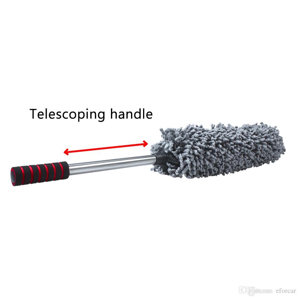 확장 가능한 핸들 홈 청소 도구 다기능 마이크로 화이버 자동차 더 스터 브러시