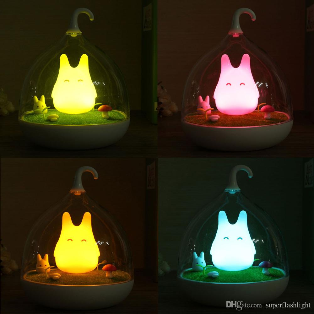 Cage Totoro Wall Lamp Indoor Portable Touch Sensor USB LED Baby Kid Night Light Bedside Lamp Home Decor Bedroom LEG_73J