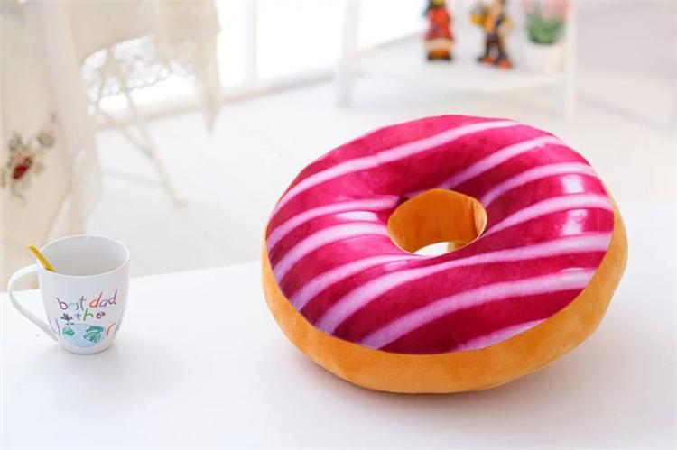 Christmas Gift doughnut Hamburger Cushion Emoji Decorative Pillows Cute plush toys doughnut Cushion for girl B0734