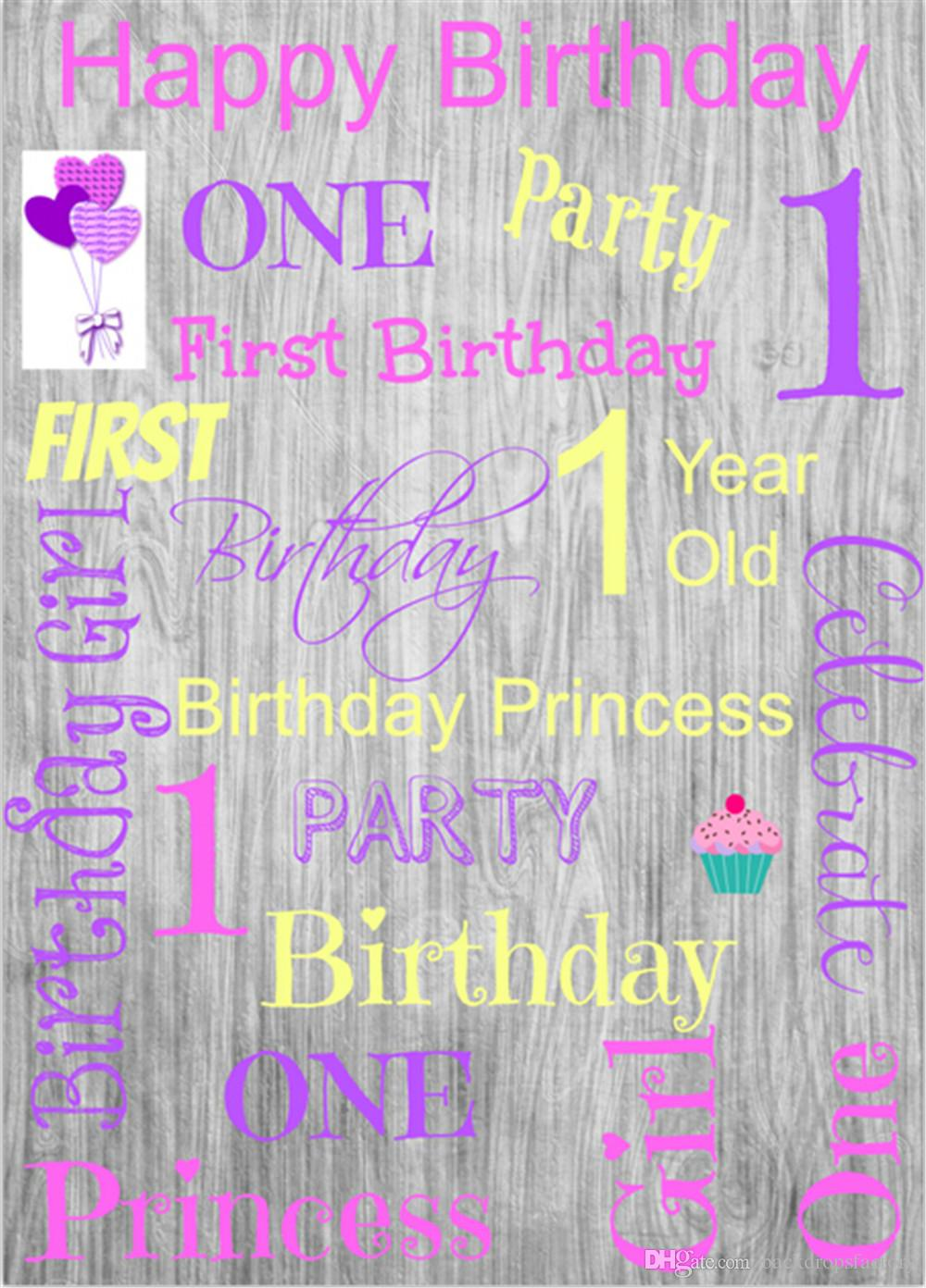 2019 Baby Girl S 1st Birthday Party Photo Booth Backdrop Little