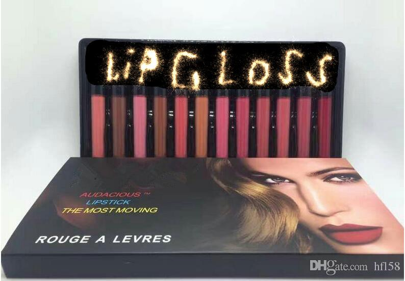 DHL hot selling high quality lipgloss long lasting Gift Box audacious lipstick the most moving rouge a levres