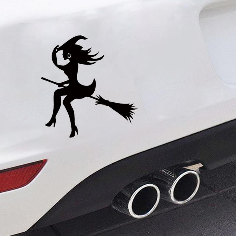 The Sell Like Hot Cakes For Witch Sexy Whitch On A Broomstick Funny Window Car Styling Vinyl Decal Cool Car Sticker