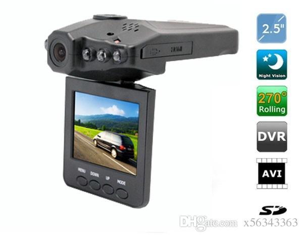 10 UNIDS Más vendido 2.5 '' Car Dash cams Sistema DVR grabador sistema de cámara caja negra H198 versión nocturna Grabador de video dash cámara