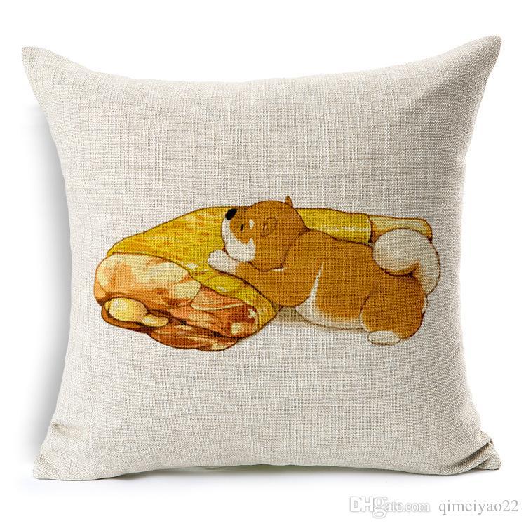 Mode Tier Kissenbezug Katze Fisch Hund Fleisch Für Kinder Dekorative Sofa Dekokissen Auto Stuhl Wohnkultur Kissenbezug almofadas