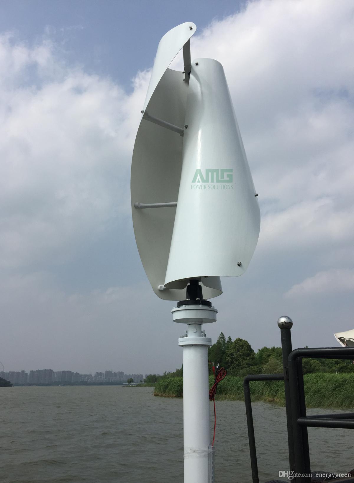 600W 12V / 24V Vertikalachse Helix Residentail Home Windturbinengenerator Kit Aerogenerator Generator mit niedriger Drehzahl 1,3 m / s Anlaufwind