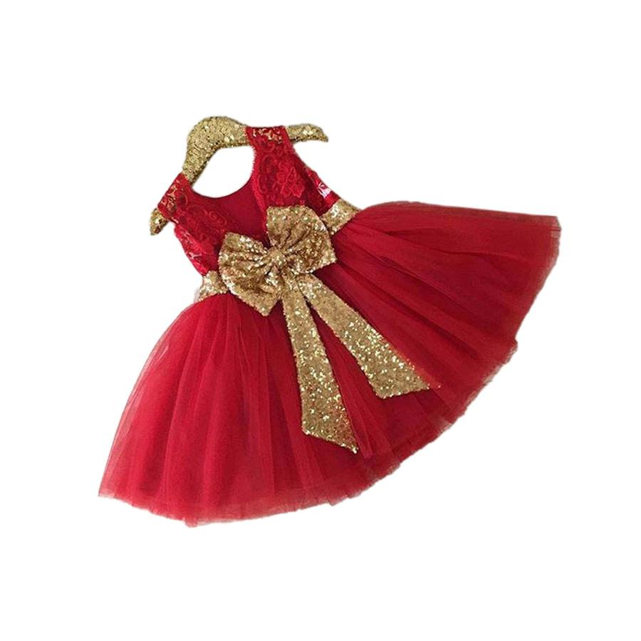 cute baby girl tutu dress fashion bowtie princess mini dress for 1-6years girls kids children princess vestido Summer clothes