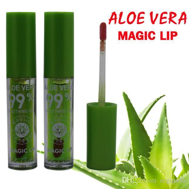 Здоровый свежий Алоэ Вера блеск для губ питательная помада цвет настроение изменение блеск для губ длительный увлажняющий жидкий губ придерживайтесь Бесплатная доставка