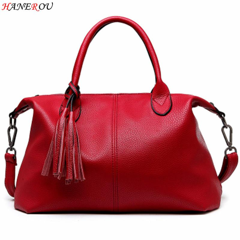Wholesale New Fashion Women Bag PU Leather Shoulder Bag Branded Ladies Hand Bags  Casual Woman Fringe Top Handle Bag 2016 Spring Sac A Main Handbag Brands ... 3b6c6b3bbe67f