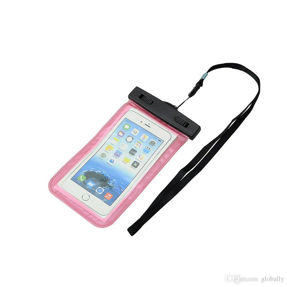 الجملة كيس ماء كيس بولي كلوريد الفينيل واقية حقيبة الهاتف العالمي الحقيبة مع أكياس البوصلة للغطس السباحة للهواتف الذكية تصل إلى 5.8 بوصة