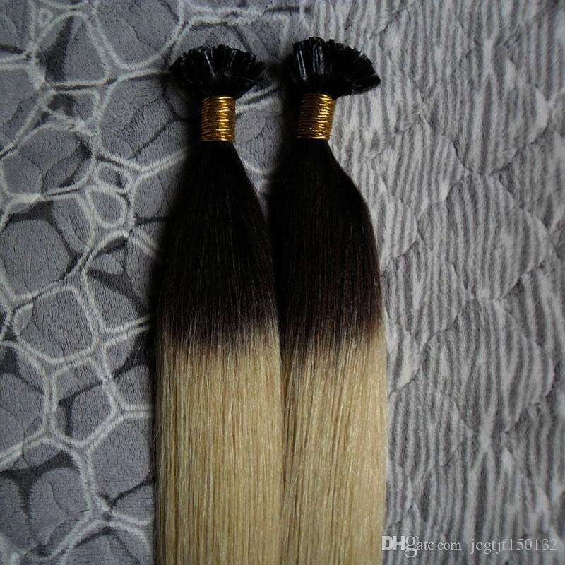 # 1B / 613 extensões de cabelo ombre brasileiro Direto queratina humana cabelo remy u dicas 100 s pré ligado extensões de cabelo humano 100g