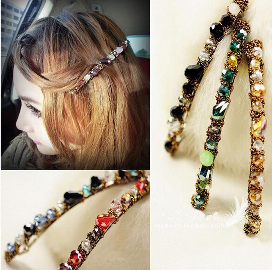 Hot Sale Women Girls Korean Fashion Crystal Rhinestone Barrette Hairpin Clip Hair Accessories
