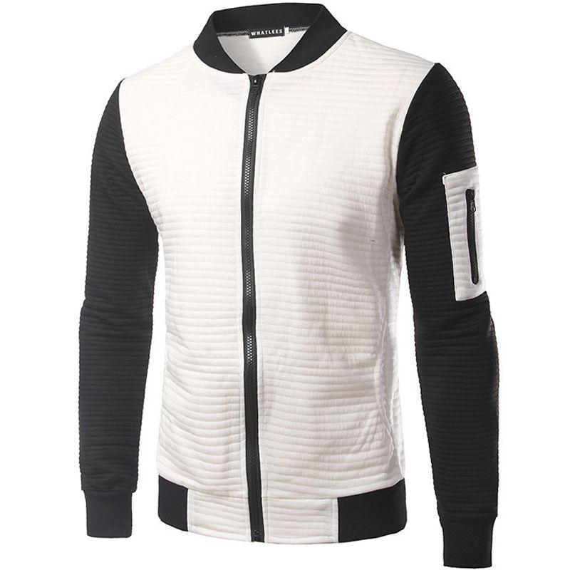 Wholesale New Trend Black White Bomber Jacket Men Veste Homme ...