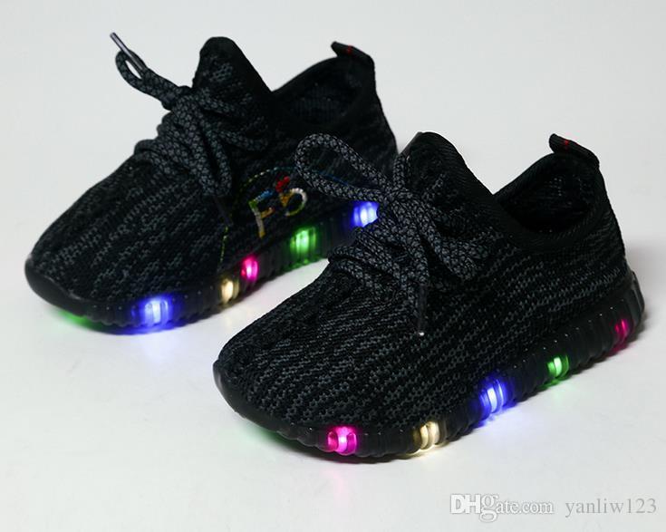 Kinderschuhe mit Licht Led Enfant Sport Breathable Boys Trainer Yezi Licht Baby Schuhe Kinder Europäische Schuhgröße: 21-34