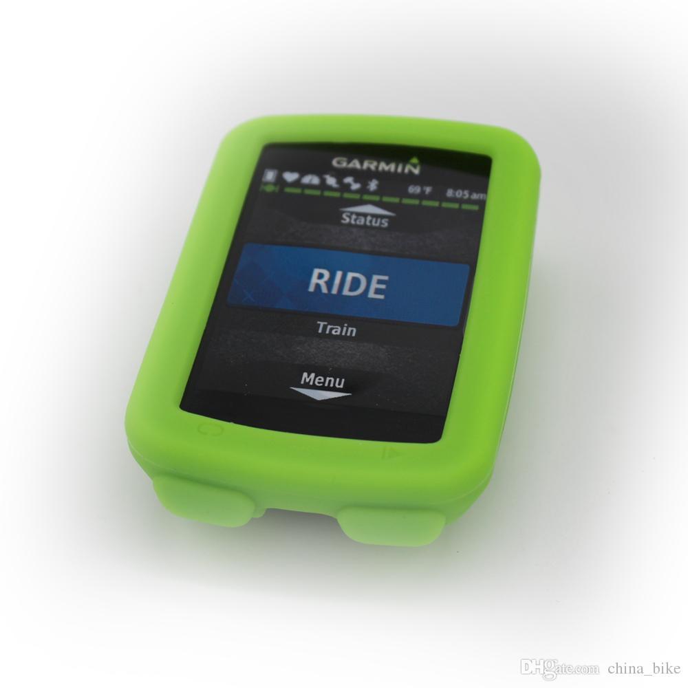 Para Garmin Edge 520 computador de bicicleta borracha de silicone Proteja Caso + Tela LCD Film Protector