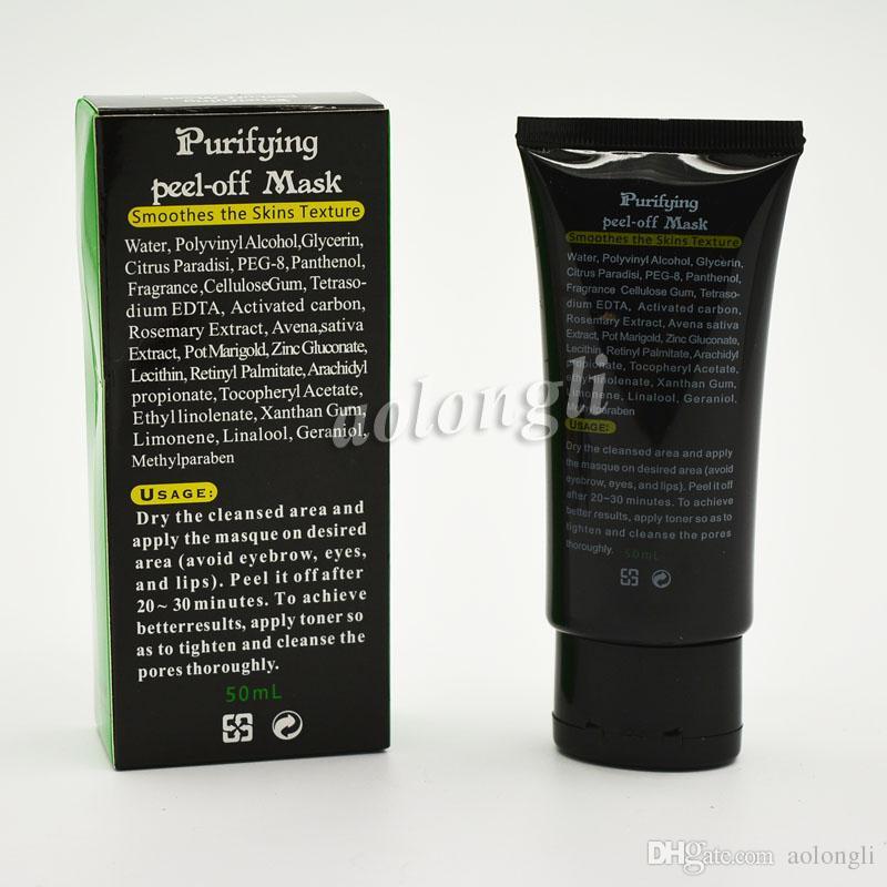 SHILLS Masque noir nettoyant en profondeur Nettoyant pores de pores 50 ml Masque purifiant Peel-off Nettoyant pour les points noirs Masque pour le visage Soins du visage Sans DHL