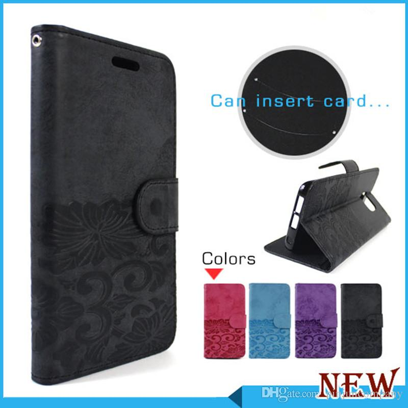 new style 66961 f5450 For Motorola moto E4 G5 PLUS G4 PLAY LG Stylus 3 Metropcs Wallet case Soft  Case Flip pu eather phone Cover