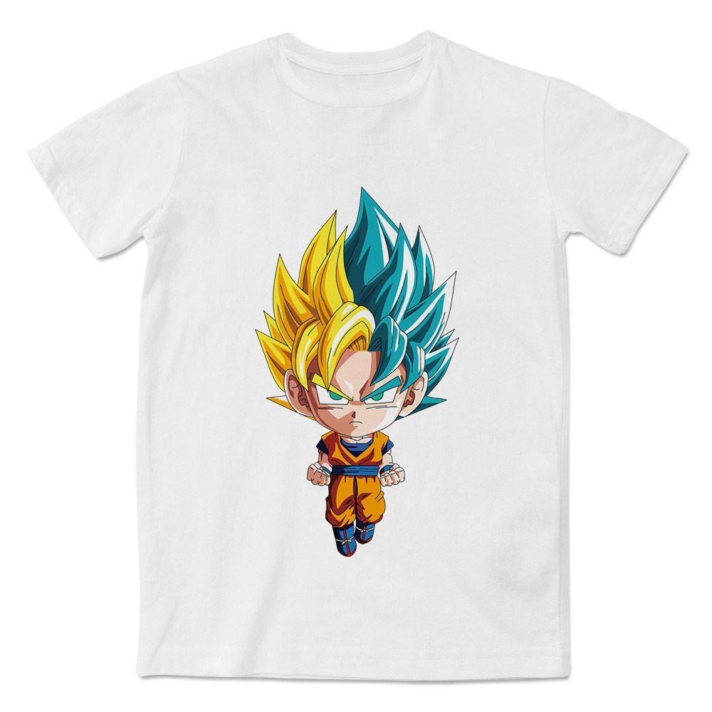 Grosshandel Super Chibi Saiyan Goku Gelb Vs Blau T Shirt Anime Cartoon Kurzarm Oansatz Gedruckt Manner Von Hixip 1319 Auf DeDhgate