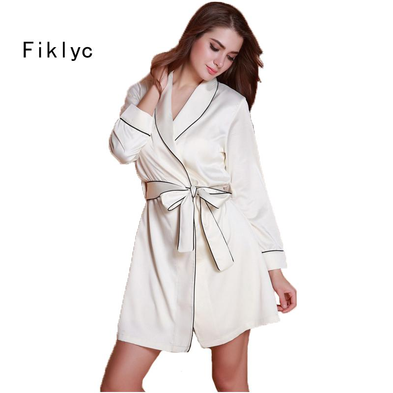 6a8abe632afb 2019 Wholesale Full Sleeve Sexy Women S Robe 2017 New Design MINI Length  Female Nightwear Bathrobes Bridesmaid Wedding Robes Hot From Michalle