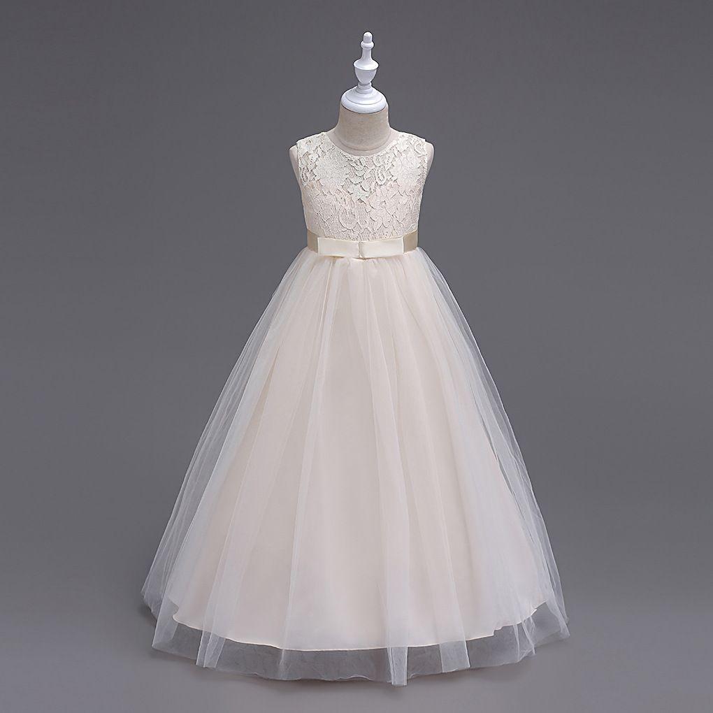 f5a07b8ca 2019 5 To 14 Years Girls Summer Sleeveless Flowers Tutu Dresses ...