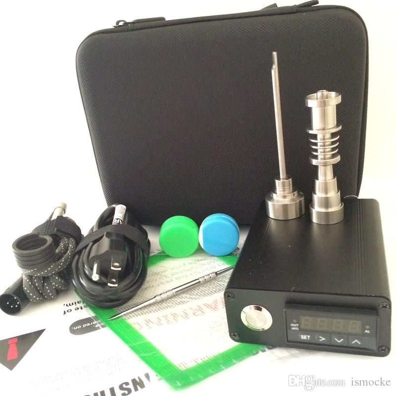 Portable E quartz nail kit electric dab nail E D electronic dabbing Temperature control PID box with Ti Tiatanium 10 16 20mm