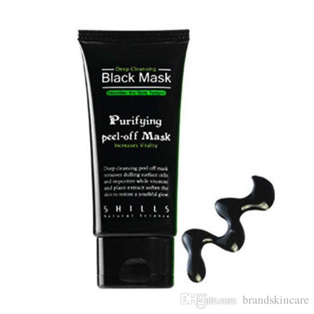 2017 SHILLS Purifying Peel-off Mask Shills Deep Cleansing Black Shills Face Mask Pore Cleaner 50ml Blackhead Facials Mask